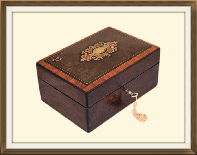 Antique Inlaid Mulberry Jewellery Box