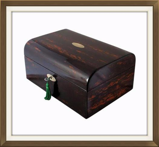 Beautiful Exotic Coromandel Antique Jewellery Box