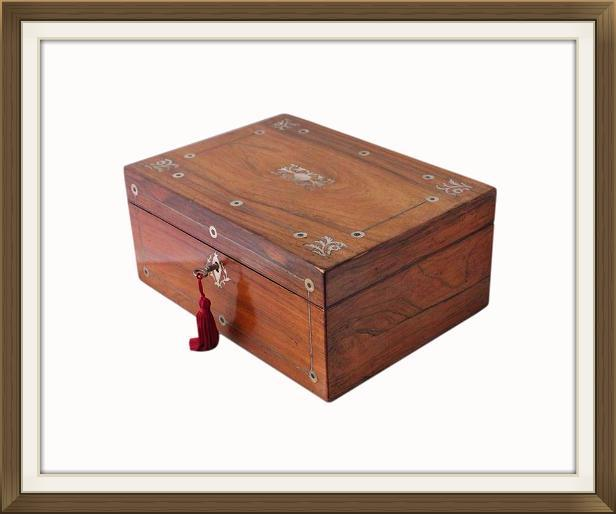 Victorian Antique Rosewood Jewellery Box