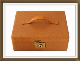 SOLD 1930s Leather Vintage Jewellery Box