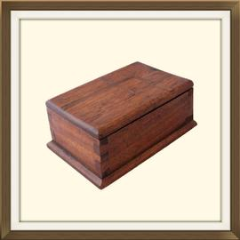 SOLD 1940s Solid Oak Trinket Or Jewellery Box