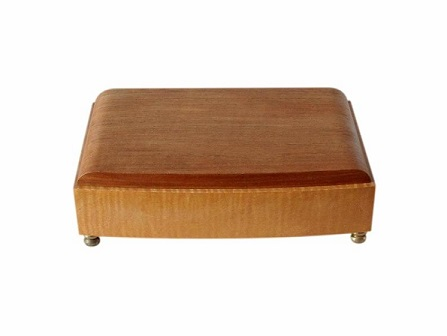 SOLD Retro Jewellery Box Satinwood And Walnut