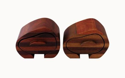2 Beautiful Modern Contemporary Wooden Boxes