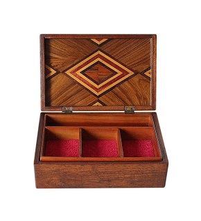 SOLD Beautifully Inlaid Art Deco Jewellery Box
