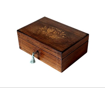SOLD Lovely French Antique Rosewood Jewellery Box
