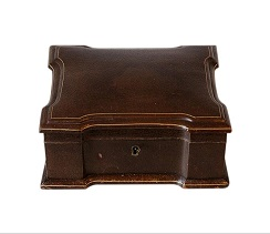 SOLD Antique French Leather Jewellery Box
