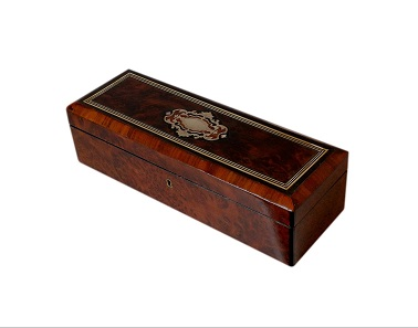 SOLD French Exotic Wood Antique Jewellery Box