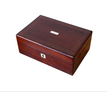 SOLD Mahogany Antique Victorian Jewellery Box