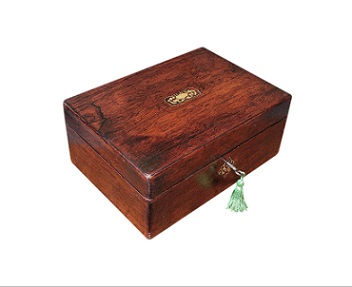 SOLD Refurbished Antique Rosewood Jewellery Box