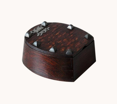 Lovely Antique Studded Horseshoe Jewellery Box