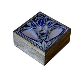 SOLD Beautifully Enamelled Vintage Jewellery Box
