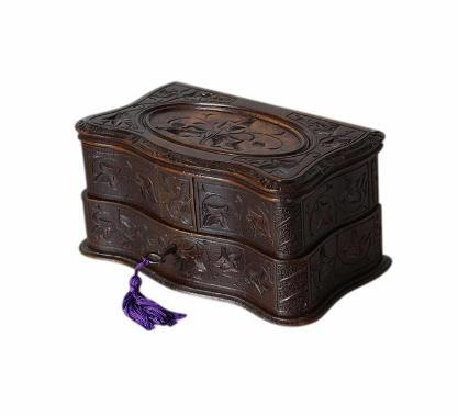 SOLD Carved Black Forest Antique Jewellery Box