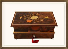 SOLD Vintage Edelweiss Musical Jewellery Box