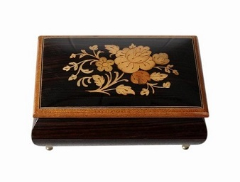 SOLD Vintage Italian Inlaid Musical Jewellery Box