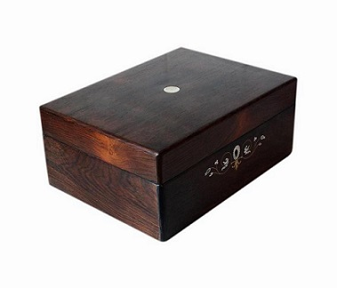 Beautiful Large Antique Rosewood Jewellery Box