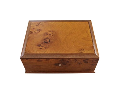 SOLD Italian Jewellery Box With Burl Wood Veneer