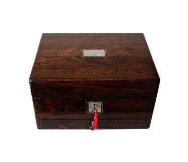 SOLD Antique Rosewood Jewellery Box With Drawer