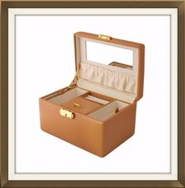 Beautiful Beige Faux Leather Jewellery Box