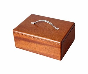 Beautiful Mahogany Box With Solid Silver Handle