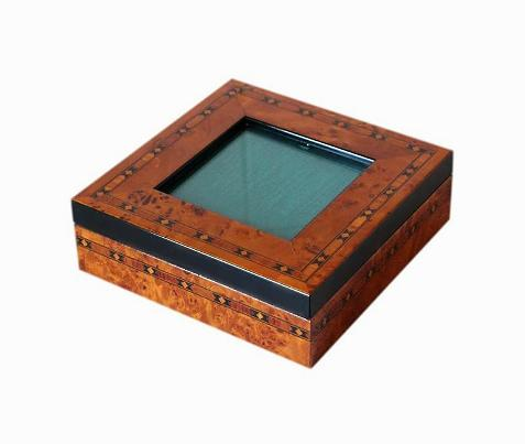 SOLD Inlaid Jewellery Box With Photo Display