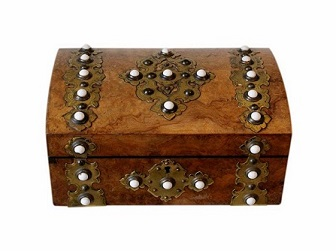 Beautiful Antique Jewellery Box With Cabochons