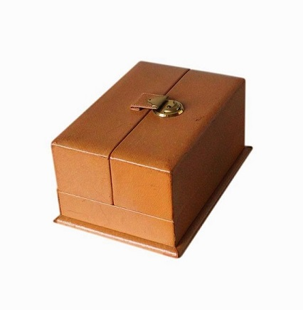 SOLD Multiple Compartment Leather Jewellery Box