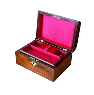 SOLD Refurbished Antique Walnut Jewellery Box