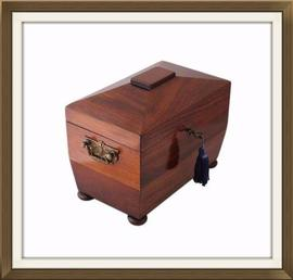 Beautiful Late Regency Mahogany Jewellery Box