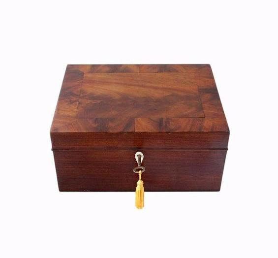 SOLD Regency Flame Mahogany Jewellery Box