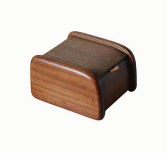 Small Art Deco Mahogany And Walnut Jewellery Box