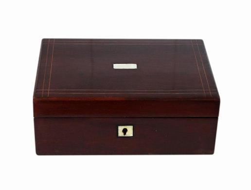 Beautiful Antique Victorian Mahogany Jewellery Box