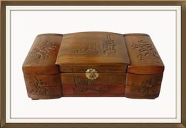 SOLD Large Carved Vintage Chinese Jewellery Box