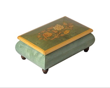 SOLD Italian Enamelled Vintage Jewellery Box