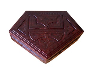 Beautiful Vintage Moroccan Leather Jewellery Box