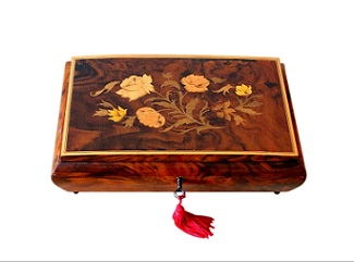 SOLD Italian Musical Jewellery Box From Sorrento