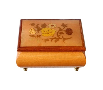 Small Inlaid Vintage Jewellery Box From Sorrento
