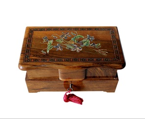 SOLD Hand Painted Italian Vintage Jewellery Box