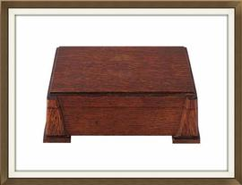 Beautiful Solid Oak Art Deco Jewellery Box