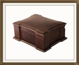 Beautiful French Leather Antique Jewellery Box