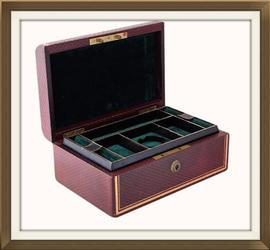 SOLD Beautiful Antique Leather Jewellery Box