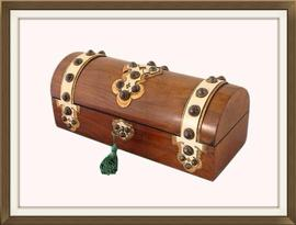 Decorative Antique Walnut Jewellery Box