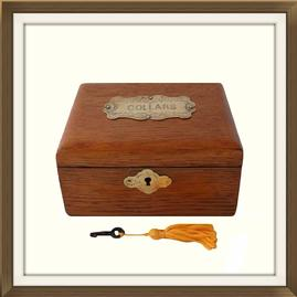 SOLD Antique Converted Victorian Collar Box