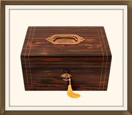 SOLD High Quality Antique Coromandel Jewellery Box