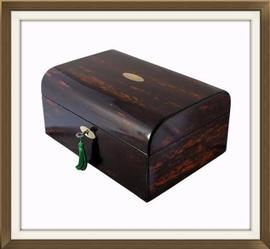 SOLD Victorian Exotic Coromandel Jewellery Box