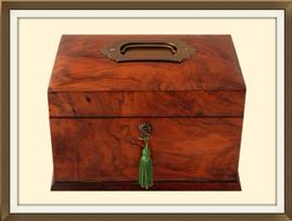 SOLD Antique Walnut Veneered Jewellery Box