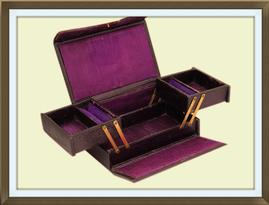 SOLD Antique Victorian Cantilever Jewellery Box