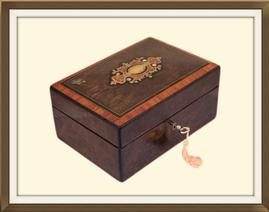 SOLD 19th C Inlaid Mulberry Jewellery Box