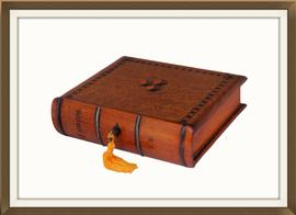 SOLD Antique Oak Jewellery Box In Book Form
