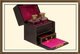 SOLD Antique Perfume Holder & Jewellery Box