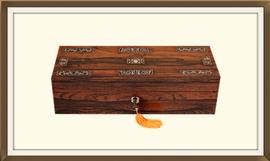 SOLD Antique Inlaid Rosewood Jewellery Box